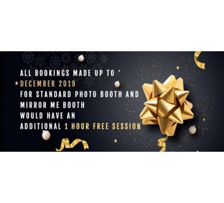 Limited Period Offer!! 1 Hr Extra for Standard & Mirror Photo Booth Bookings