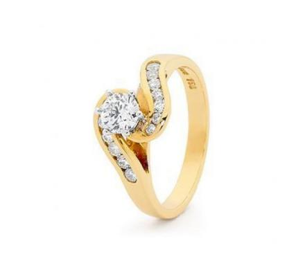 GET WHITE GOLD ENGAGEMENT RING