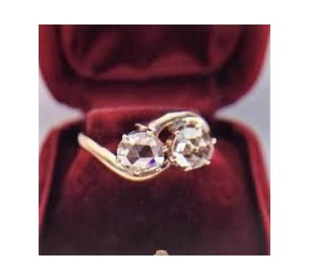 Antique rose cut diamond ring at Vintage Times