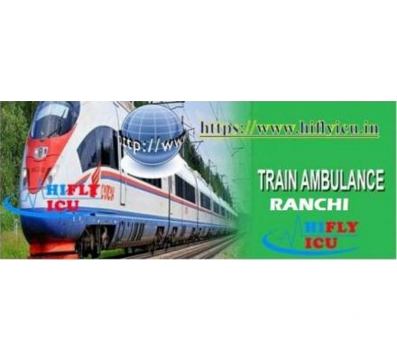 Avail 24*7 Train Ambulance Services in Ranchi by HIFLY ICU