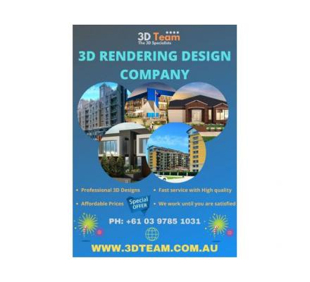 3D Rendering Services – 3D Team, Australia