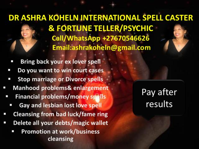 !~LOST LOVE SPELL CASTER IN USA~UK~ENGLAND+27670546626 PAY AFTER RESULTS