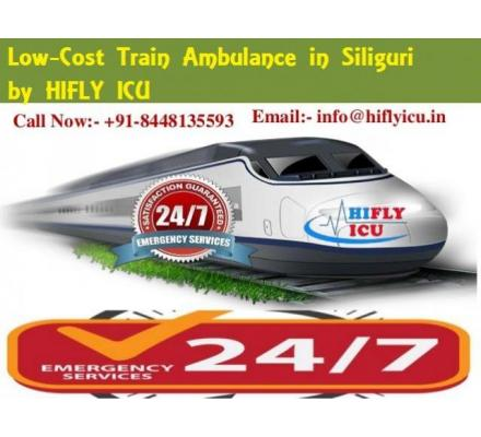 Contact Train Ambulance in Siliguri by HIFLY ICU to transfer the Patient