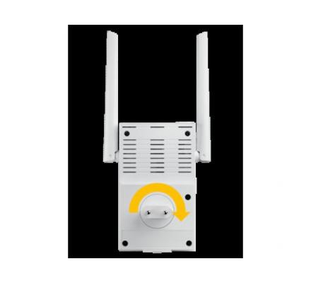 How can the user setup the Asus RP-N12 N300 Repeater with web domain | www.repeater.asus.com