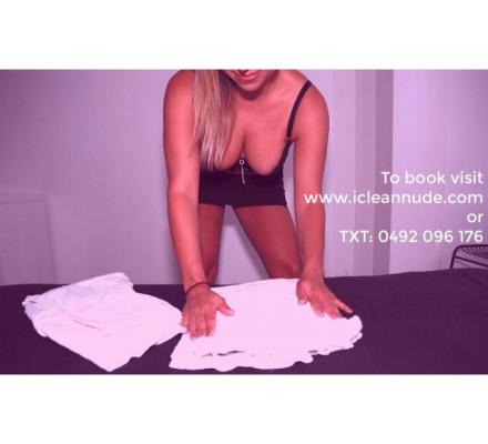 Bikini, Topless or Full Nude House Cleaning Now Available Sydney