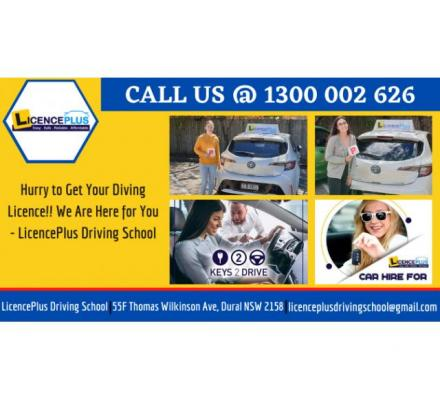 Hurry to Get Your Diving Licence!! We Are Here for You - LicencePlus Driving School | Call @ 1300002