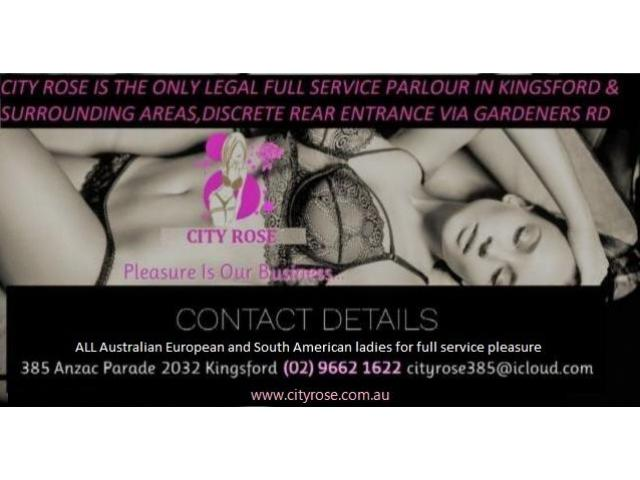 Blow your load at City Rose Kingsford Aussie and Euro babes 11am till 5am PH 96621622 Walkins welcom