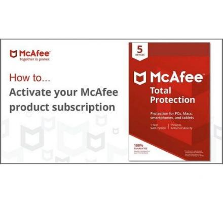 mcafee activate – Enter Product Key – Activate McAfee Subscription