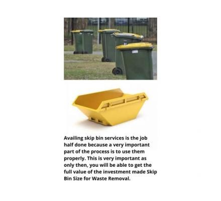Hire a reputable company for Mini Skip Bin Hire Services
