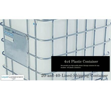 Liquid Containment Provides High-Quality 4x4 Plastic Container