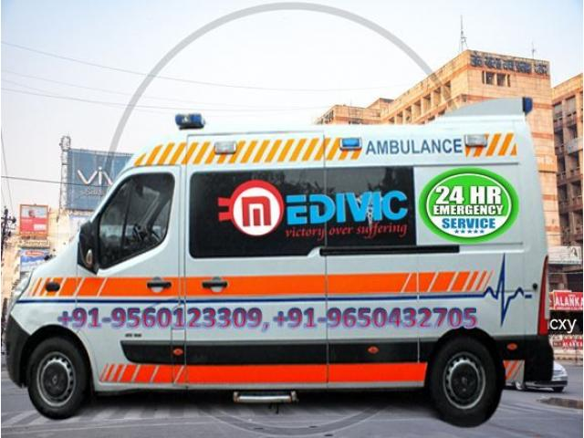 Get Medical Support Ambulance Service in Danapur- Full ICU Facility