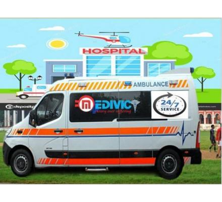 Hire Low-Fare Ambulance Service in Patna-Advanced Medical Support