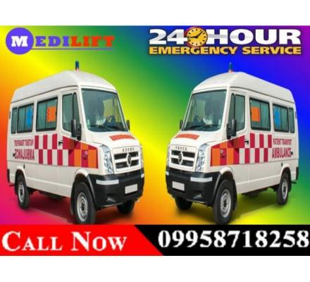 Get Medical Road Ambulance Service in Ashok Nagar, Ranchi at Low-Cost- Medilift