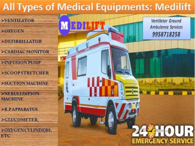 Get ICU Patient Transfer Road Ambulance Service in Bahu Bazaar, Ranchi at Low-Cost