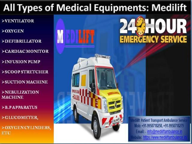 Get Medilift Road Ambulance in Bara Ghagra, Ranchi for Emergency Patient Transport