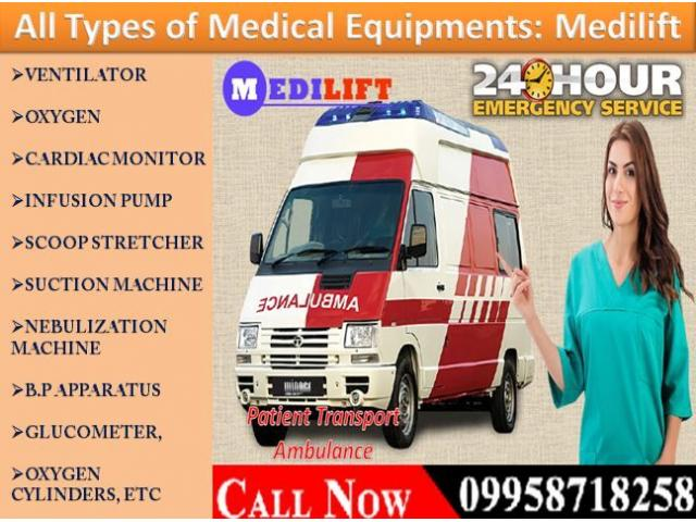 Get Medilift Road Ambulance Service in Birsanagar, Ranchi for Safely Patient Transfer