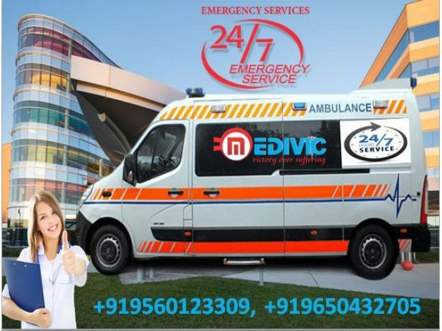 Take Emergency ICU Ambulance Service in Sipara-Patna at Low-Fare