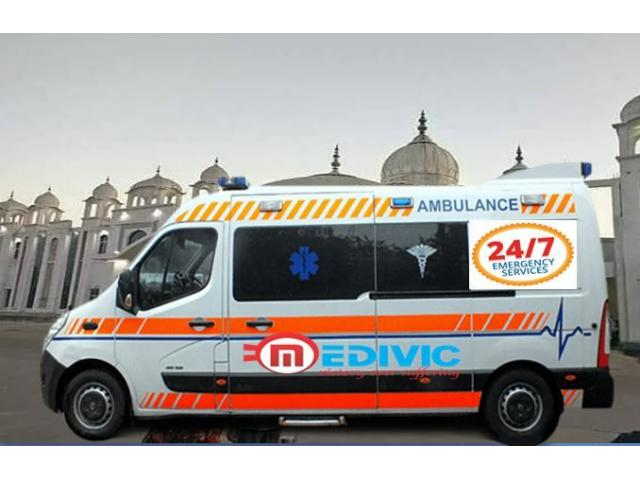 Take India-1 Ambulance Service in Patna with Medical Support by Medivic