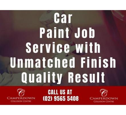Car Paint Job Service with Unmatched Finish Quality Result