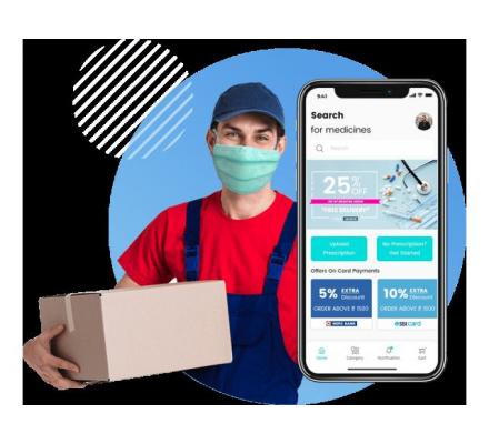 Get a white labelled e-pharmacy store with an on-demand medicine delivery app
