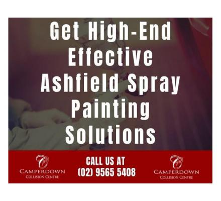 Get High End Effective Ashfield Spray Painting Solutions