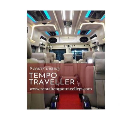 Taking 9 seater luxury Rental Tempo Traveller for Family Trip to Dharamshala