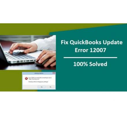 Complete Solving Method For QuickBooks Update Error 12007