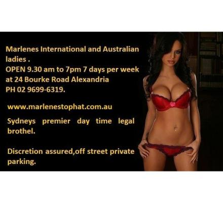 Friday Frolics at Marlene's Alexandria with sexy Aussie and International babes ph 96996319