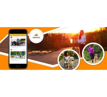 Develop the dog walking app from scratch to the best quality app with AppDupe