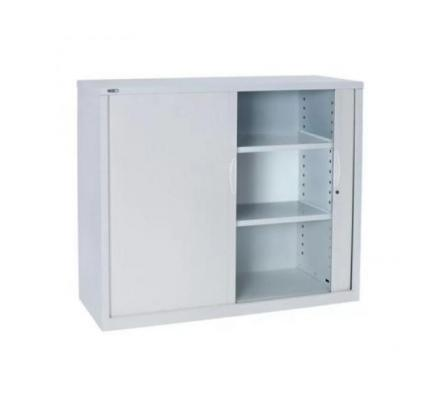 SUPER STRONG METAL TAMBOUR DOOR STORAGE CABINET, WHITE