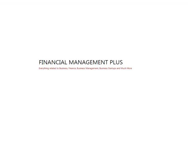Financial Management Plus