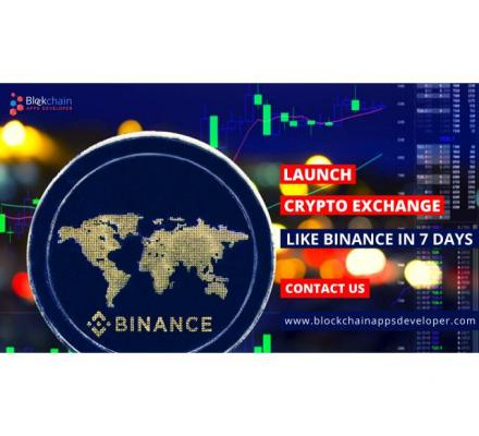 Launch Your Own Cryptocurrency Exchange Like Binance in 7 days!