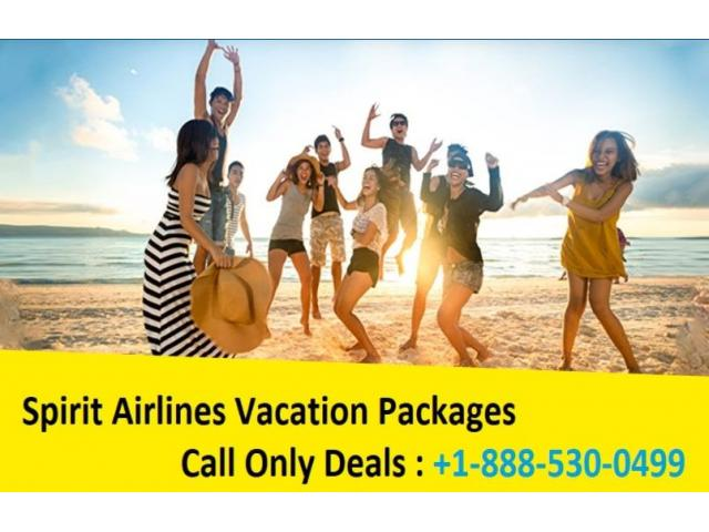 Spirit Airlines Vacation Packages | +1-888-530-0499