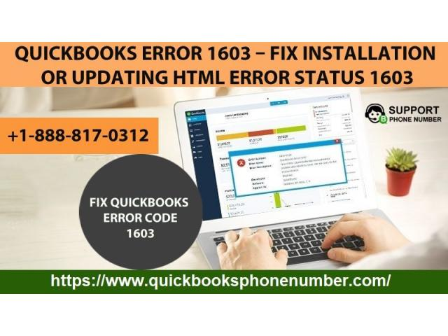 Are you facing error 1603 in QuickBooks? Eliminate it with simple steps.