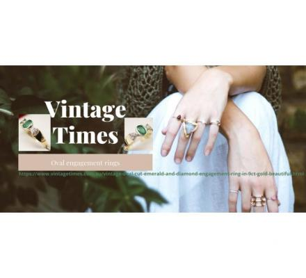 Shop the exquisite range of Oval engagement rings - Vintage Times
