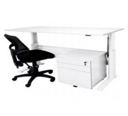SPACE SYSTEM ELECTRIC DESK, DRAWER UNIT AND STRADBROKE CHAIR PACKAGE