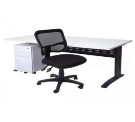 SPACE SYSTEM DESK, DRAWER UNIT AND STRADBROKE CHAIR PACKAGE