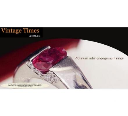 New Stunning Platinum ruby engagement rings -  Vintage Times