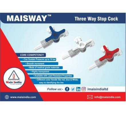 Buy THREE WAY STOP COCK Mais India Medical Devises online