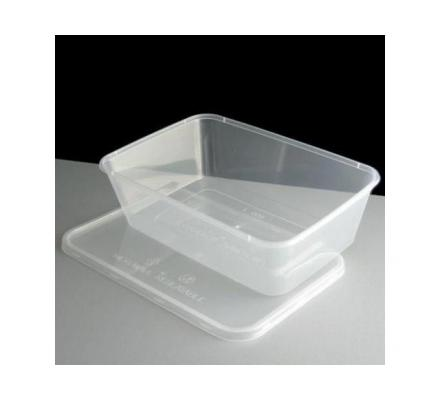 Round plastic takeaway containers