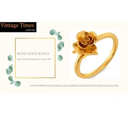Buy Latest Design Rose gold rings at Vintage Times