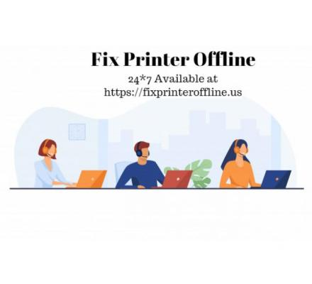 how to change printer status to online