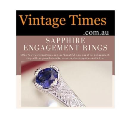 Shop Magnificent Beautifully Sapphire Engagement Rings | Vintage Times