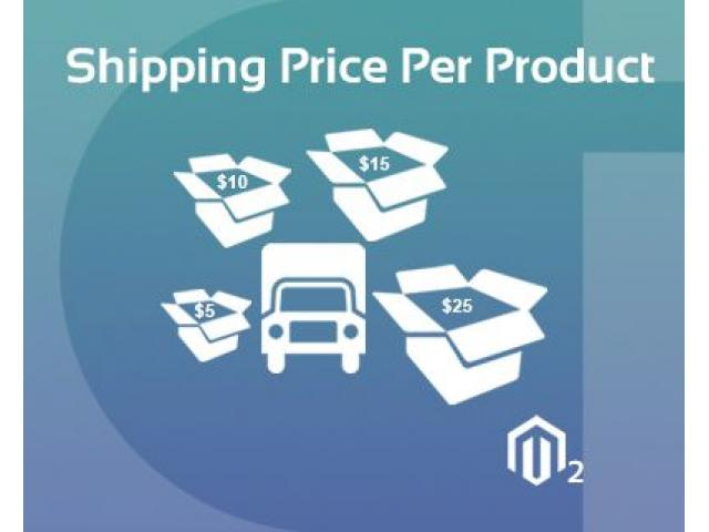 Magento 2 Shipping Price Per Product Extension