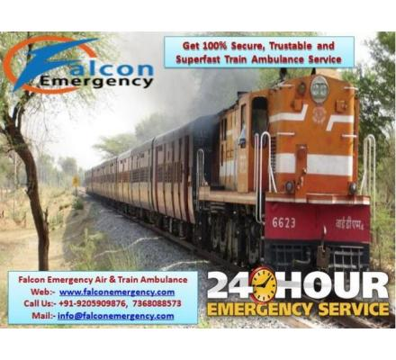 Get Falcon Emergency Train Ambulance from Dibrugarh to Delhi at the Cheap Budget