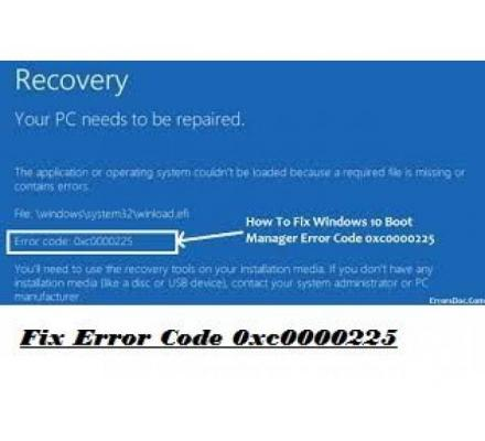 Steps to Fix Error Code 0xc0000225