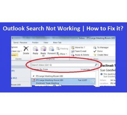 UNABLE TO SEARCH IN OUTLOOK