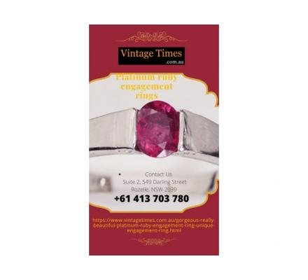 Fashionable platinum ruby engagement rings collections in Australia -Vintage Times