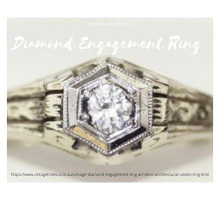 Diamond engagement ring set for wedding | Vintage Times