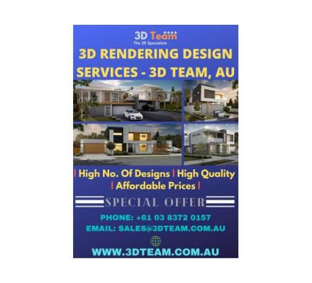 3D Rendering Services in Australia